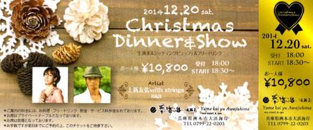 Christmas dinner &show 2014.12.20